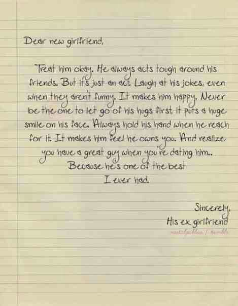 Love letter to my ex girlfriend