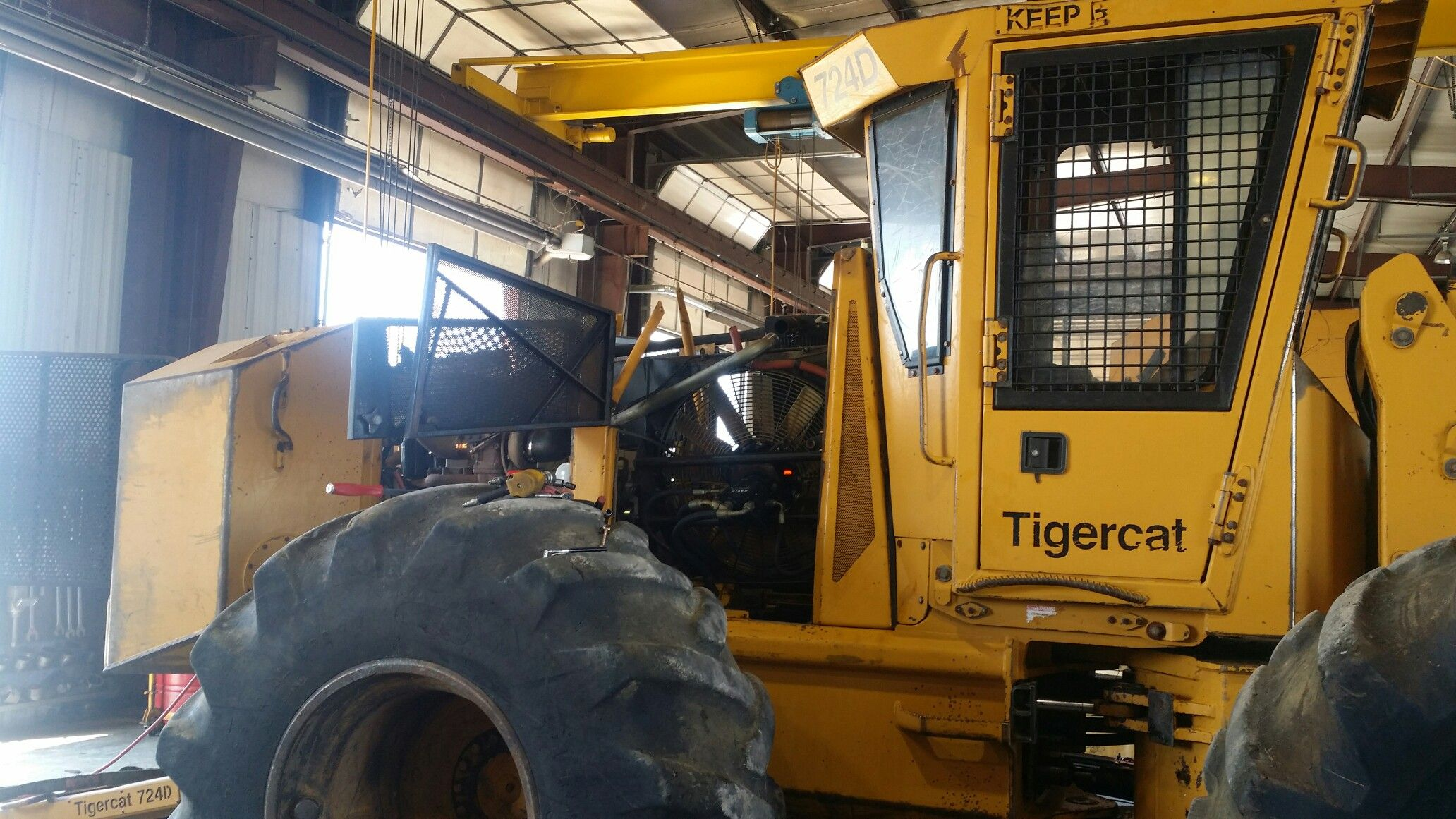 Logging equipment repair