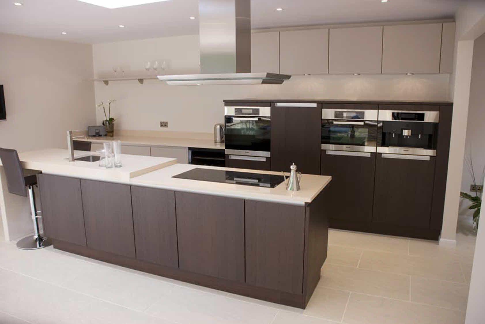 Chocolate and Cream custom built Poggenpohl kitchen. The ...