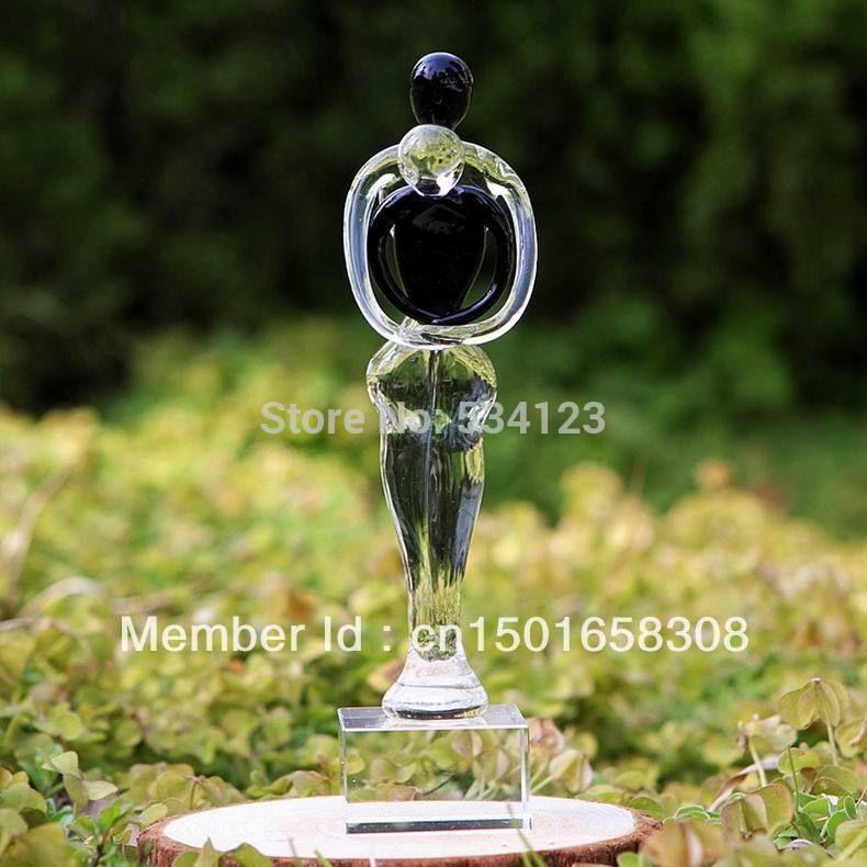Click to Buy \u003c\u003c New Arrival ! enbracing crystal glass figurines