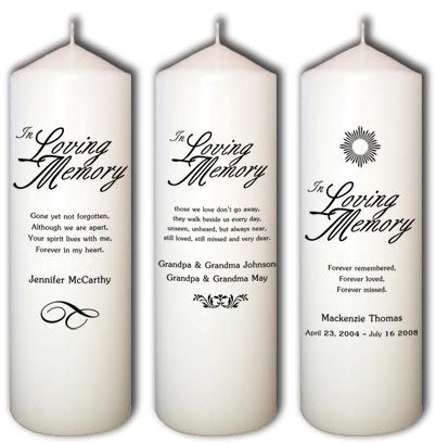 In Loving Memory Candles 30 I Would Like To Have One For My
