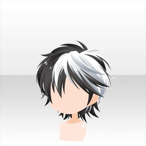 Cabello de anime kawaii