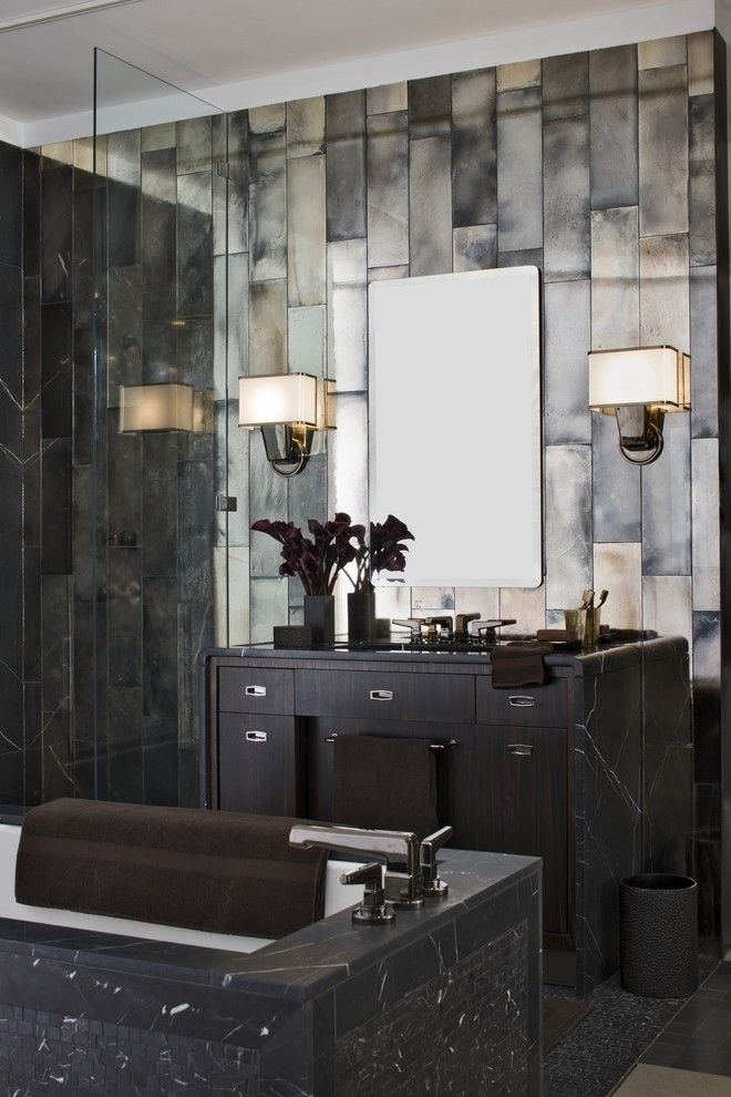 Antique Mirror Tile Design Ideas, Pictures, Remodel, And Decor