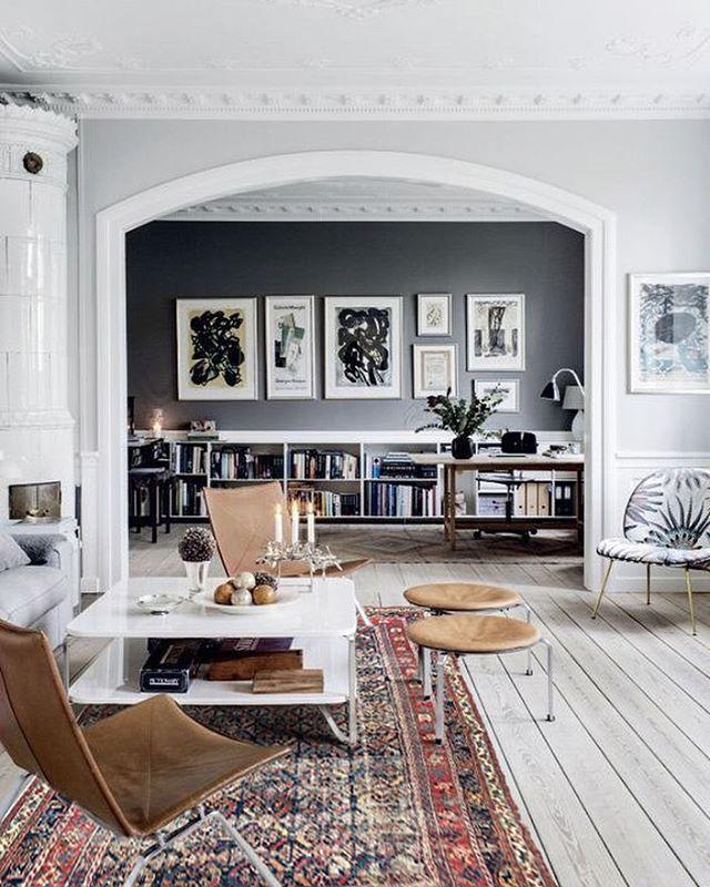 Un salon entre cachet de l\'ancien et caractère contemporain ...