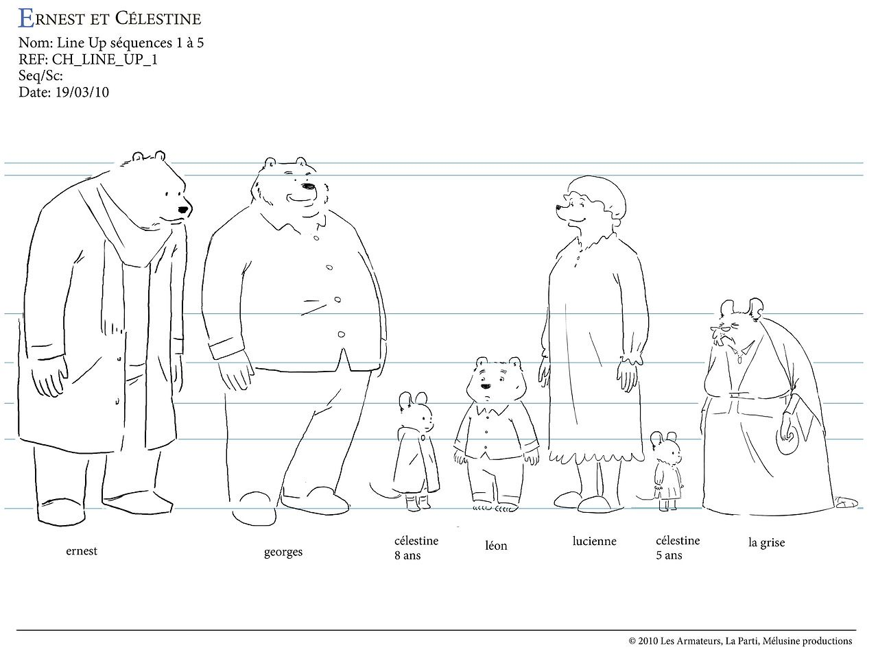 Ernest And Celestine Ernest And Celestine Character Model Sheet Character Design
