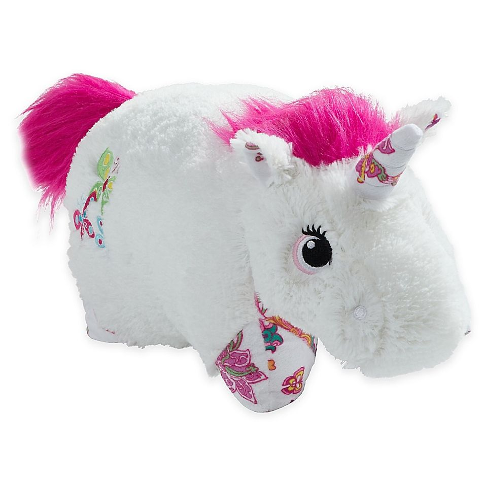 Pillow Pets Colorful Unicorn Pillow Pet In White White Pink