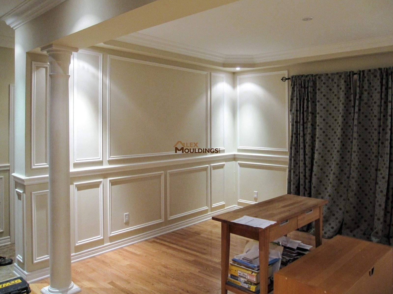 Amazing Wainscoting Paneling | Coffered Waffle Ceiling | Archways | Crown Mouldings  | LED Potlights | Toronto And GTA