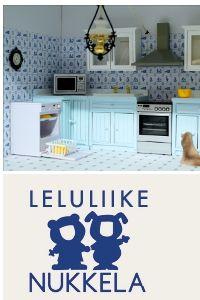 2. palkinto suomen_ihanin_nukkekotiblogi_2012 -kisassa on Leluliike Nukkelan lahjoittama kodinkonesetti: pesukone, liesi ja mikroaaltouuni