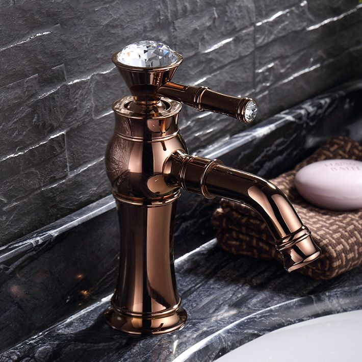 Rose Gold Copper Hot And Cold Counter bathroom faucet Basin mixer ...
