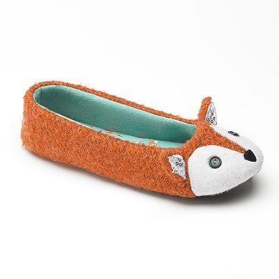 SO fox slippers kohls $15.99