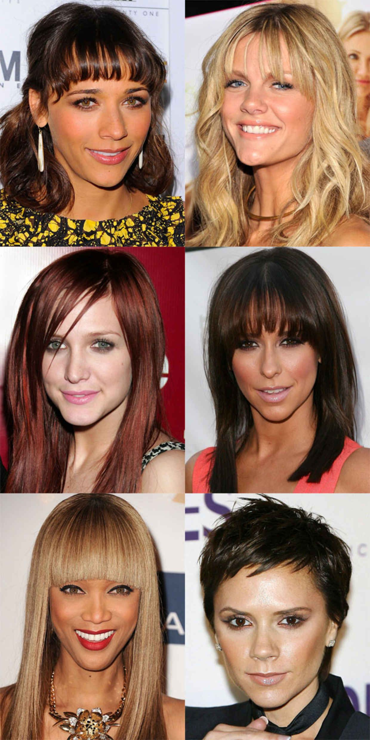 the best (and worst) bangs for inverted triangle faces