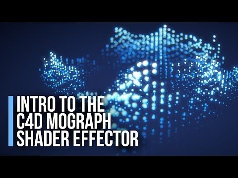 Cinema 4D Tutorial - Intro to the Mograph Shader Effector - YouTube