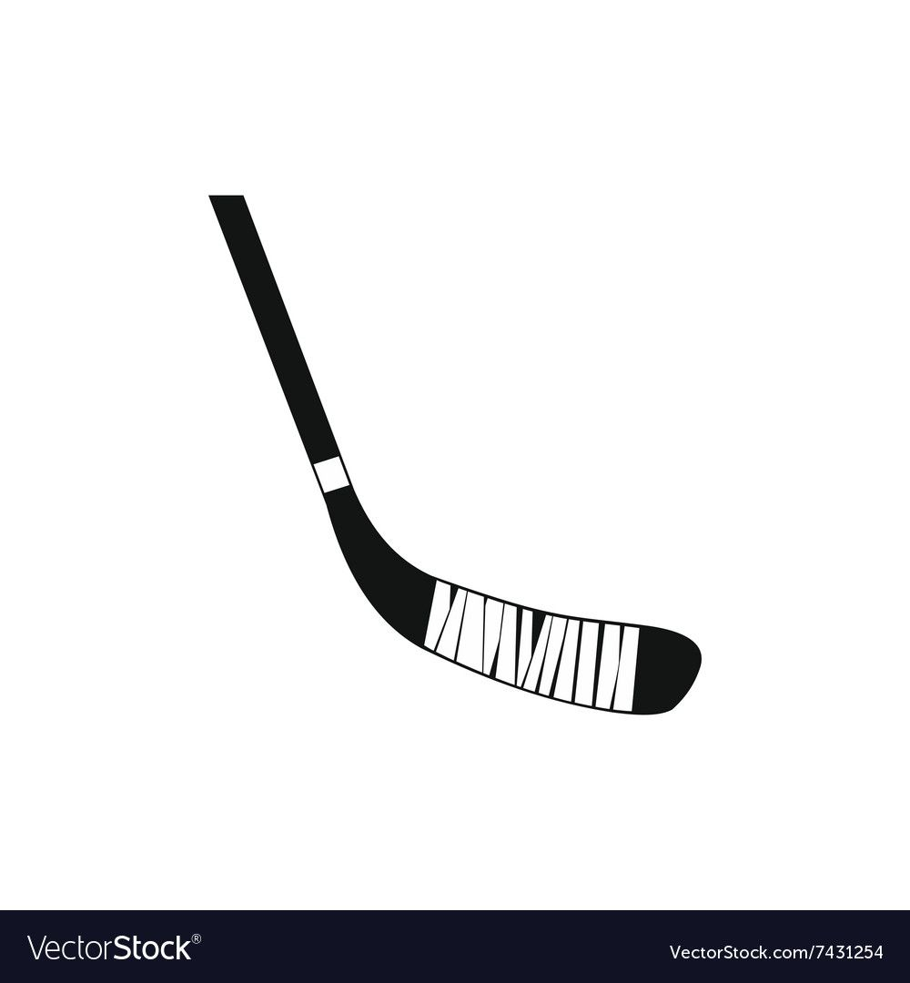 Hockey Stick Black Simple Icon Royalty Free Vector Image Aff Black Simple Hockey Stick Ad In 2020 Vector Free Simple Icon Free Vector Images