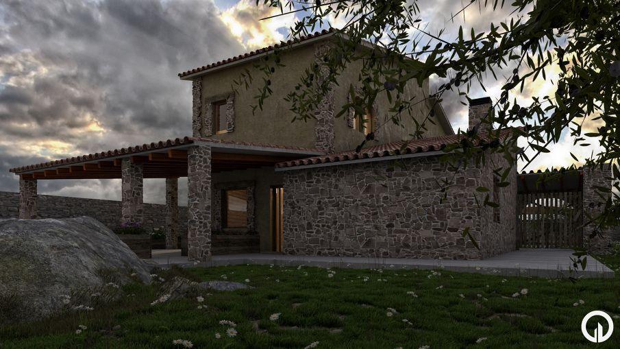 3D Visualization // Masia by esbÓs estudi d'arquitectura // http://www.esbos.cat/ // Sant Esteve de Sesrovires, Barcelona (Spain)