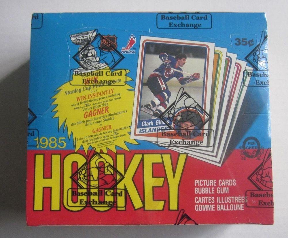 1984 85 opc unopened hockey wax box bbce basketballs