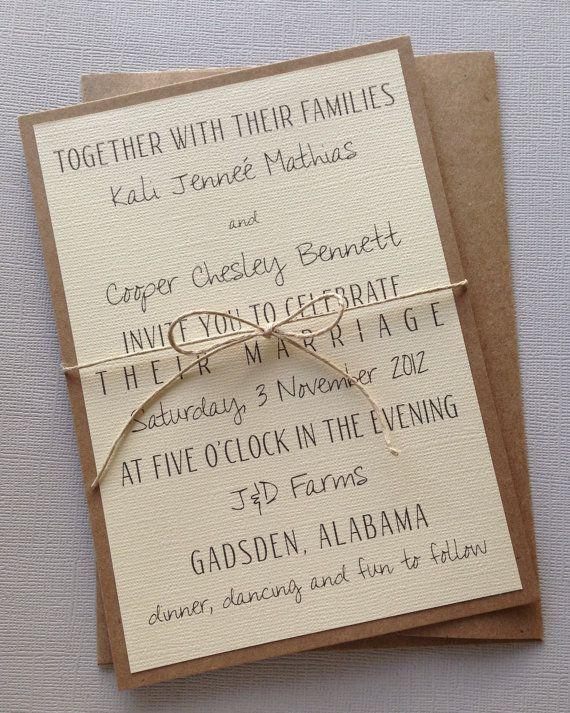 Rustic Wedding Invitation Wording Templates Free Sample Example ...