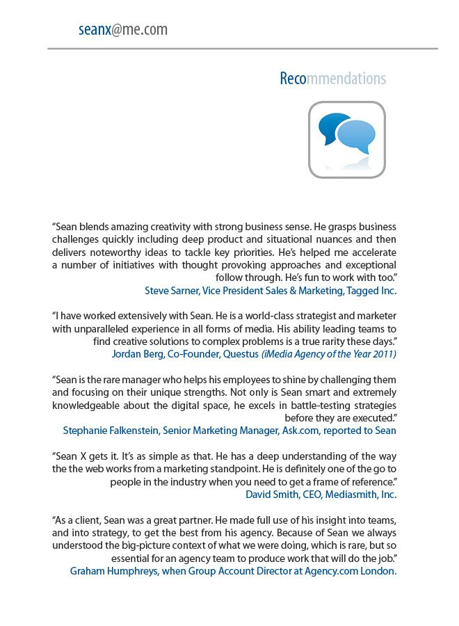 Sean X Resume - Recommendations Sean X - Digital Unicorn Pinterest - recommended font for resume