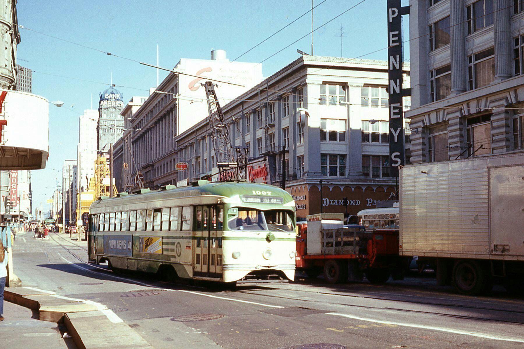 SF MUNI PCC Streetcar Francisco, San, Street view
