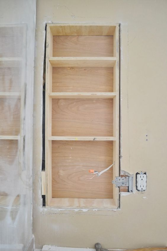 Between The Studs Storage   A TutorialUsing Stair Tread Nosing As Finishing  Trim On Built