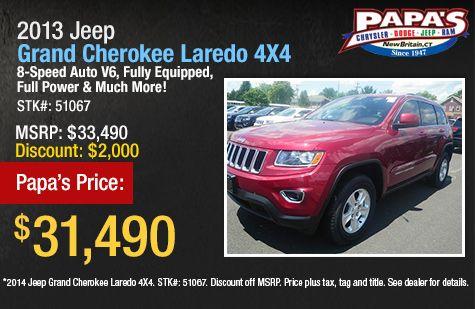 2014 Grand Cherokee Sale New Britain Ct Hartford July 2013