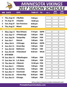 Minnesota Vikingsfootball Schedule 2017 Packers Football Green Bay Packers Green Bay Packers Football
