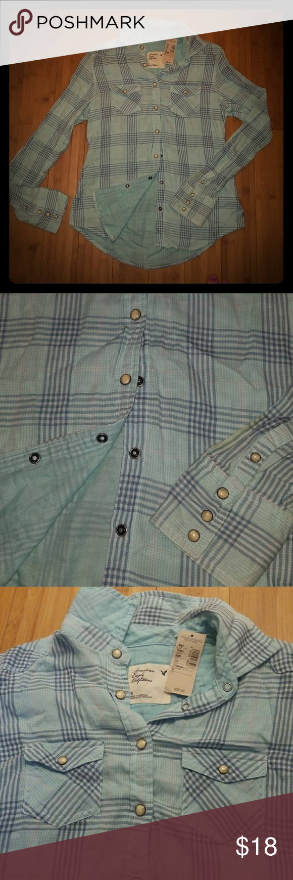 Light Plaidwestern Snap Button Dress Shirt Nwt In 2018 My Posh