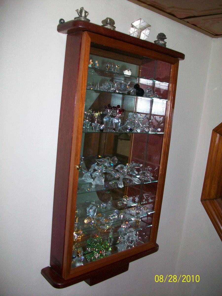 Small Curio Cabinet For Knick Knacks. Custom Made To Your Choice Of Size,  Shelve Space, Color, And Wood.