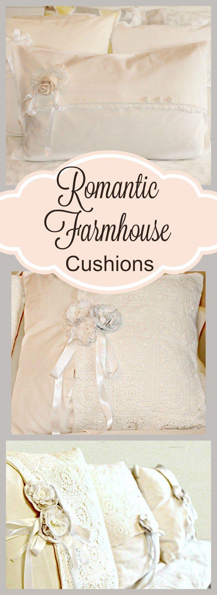 DIY Romantic Feminine Farmhouse Cushions | Tutorials, Cushion ...
