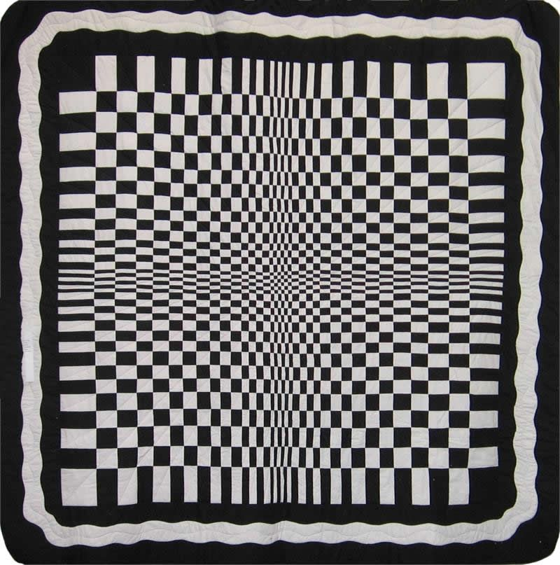 black and white Quilt Patterns Black and White Optical