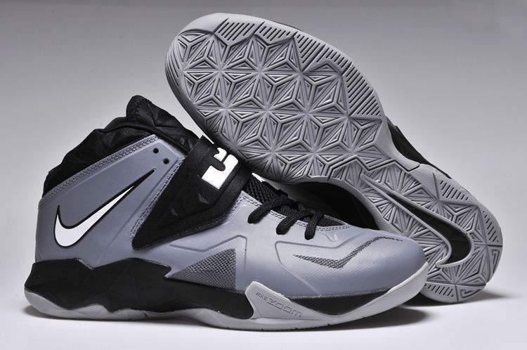 Nike Zoom Lebron Soldier 7 Grey/Black For Sale ,Soldier Soldier 7