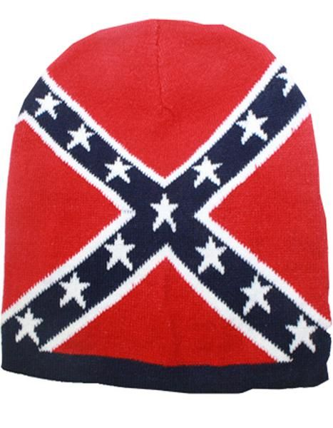 cb71653f897 Navy Blue Confederate Flag Thick Knit Cold Weather Beanie Hat
