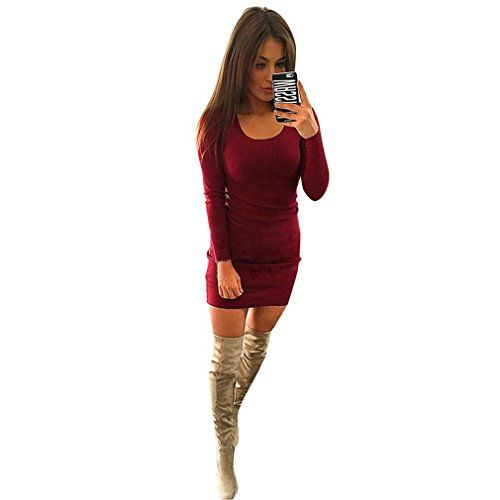 67a1ada533c DAY8 Femme Vetements Chic Robe Femme Grande Taille Soiree Vetement Femme  Pas Cher Fashion Hiver Robe