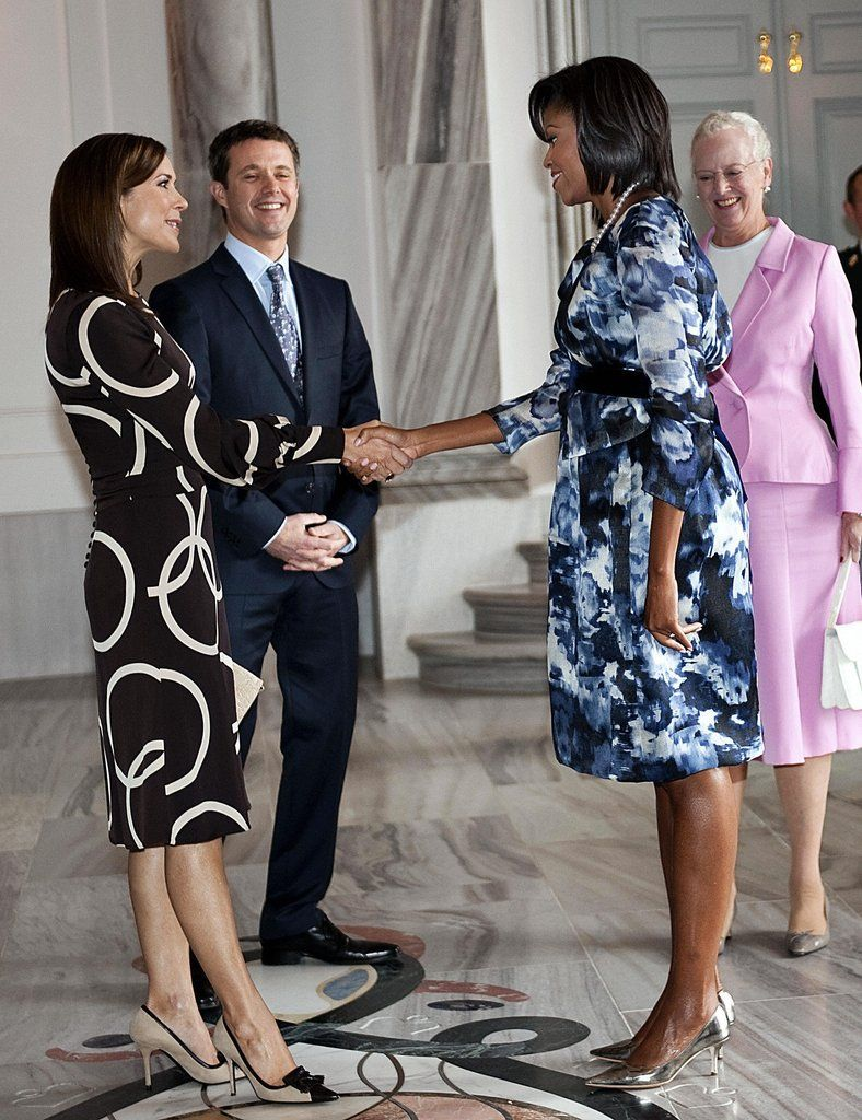 She Met Michelle Obama in a Patterned Dress | Mrs  Obama