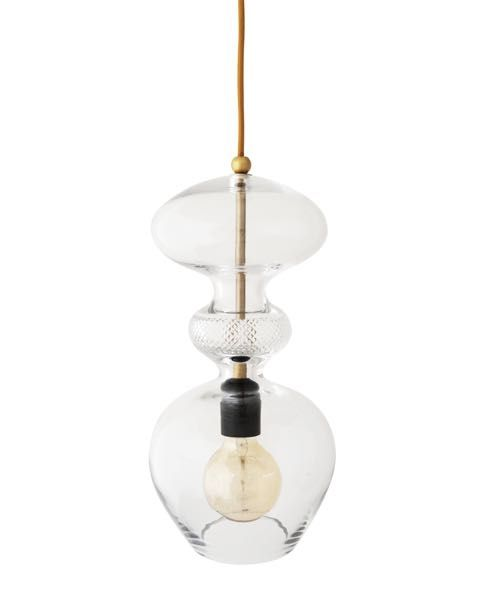 The Futura Pendant Lamp Is Produced In Clear Mouthblown Lead Crystal The Middle Section Is A Gold Pendant Lighting Gold Pendant Lamp Crystal Pendant Lighting
