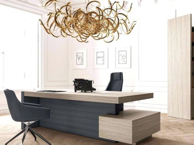 Multi Plane Desk Desain Interior Ruang Keluarga Kecil Mebel