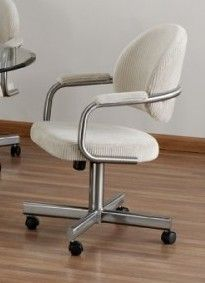 This Chromcraft like C363 chair is made by Tempo and ...