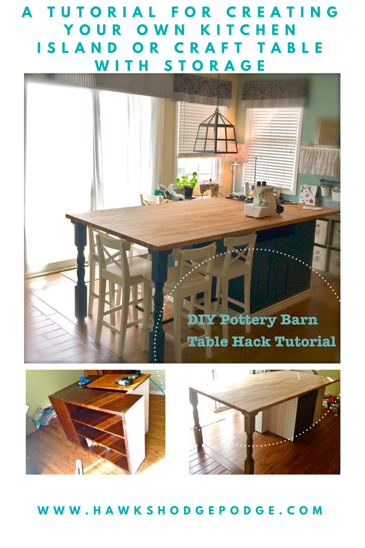 Make Your Own Butcher Block Kitchen Island : A complete tutorial using furniture pieces from Craig's List and butcher block from IKEA to make ...
