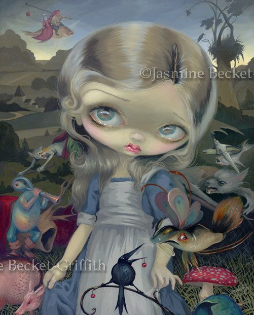 Alice in a Bosch Wonderland surreal hieronymus by strangeling, $29.99