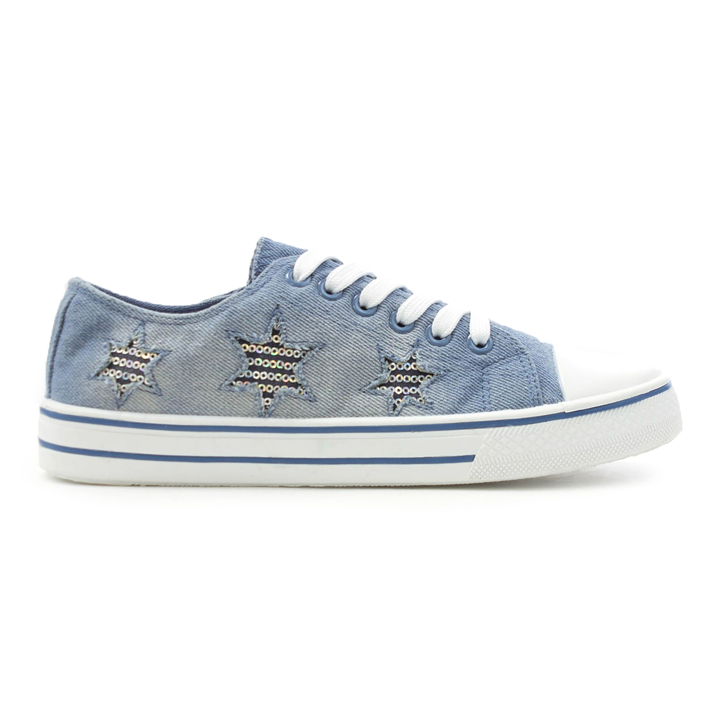 789c87cdc959 Lilley Womens Washed Denim Lace Up Canvas