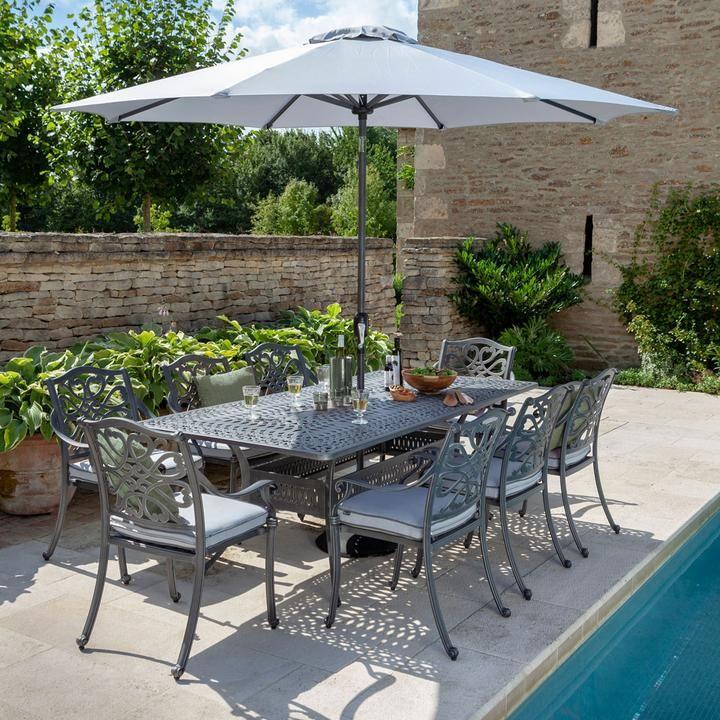 2019 hartman capri 8 seat rectangular garden dining table set rh pinterest com