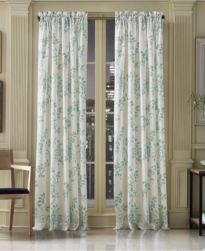 J Queen New York Winslow Sheer 52 X 108 Window Panel J Queen New York Panel Curtains Floral Curtains