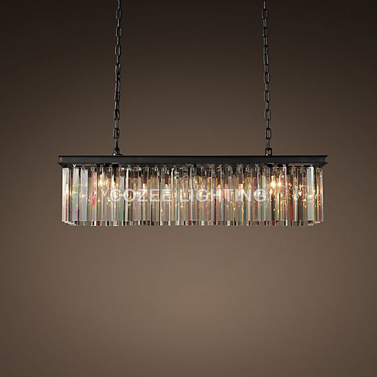 Vintage Linear Crystal Chandelier Indoor Lighting Cristal Hanging Light For  Home Hotel Restaurant Living And Dining