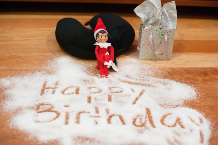 Elf on the shelf ideas | Birthday elf, Elf on the shelf, Elf
