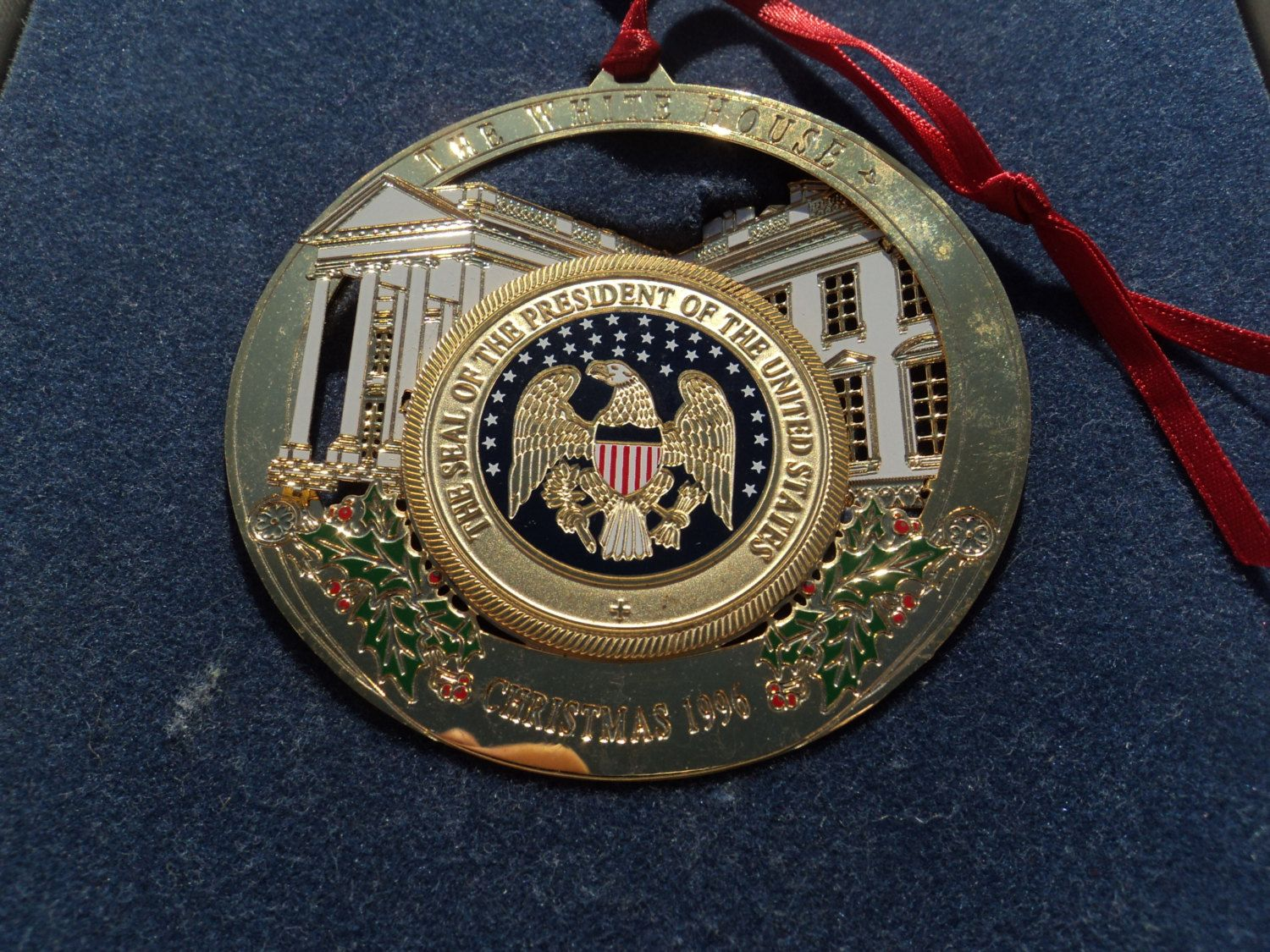 White house christmas ornaments historical society - Christmas Ornament From The White House Historical Society 1996