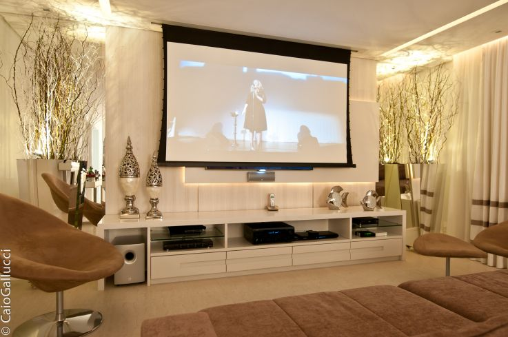 Home theater home theater sala de tv pinterest - Sala home cinema ...