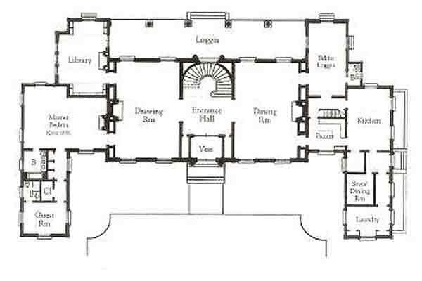 Clarendon Court, Newport, R.I. First Floor Plan