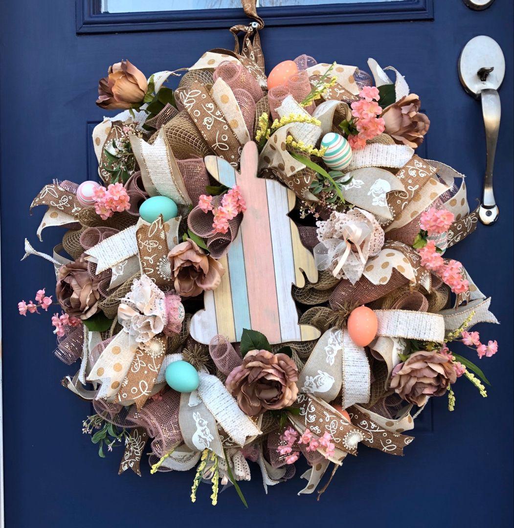 Photo of Easter Door Wreath Easter Wreath for front door Easter | Etsy