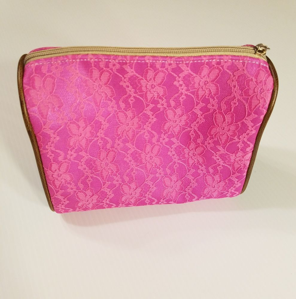 Consuela Monarch Fuchsia Lace Makeup Cosmetic Bag Teal Turquoise Reptile Cosmeticbag