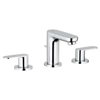 Eurosmart Cosmopolitan 8 in. Widespread 2-Handle 1.2 GPM Bathroom Faucet in StarLight Chrome