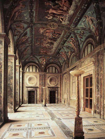 Villa Farnesine Loge De Psyche Raphael 1511 Fresques Renaissance Italienne Italie Paysage Italie